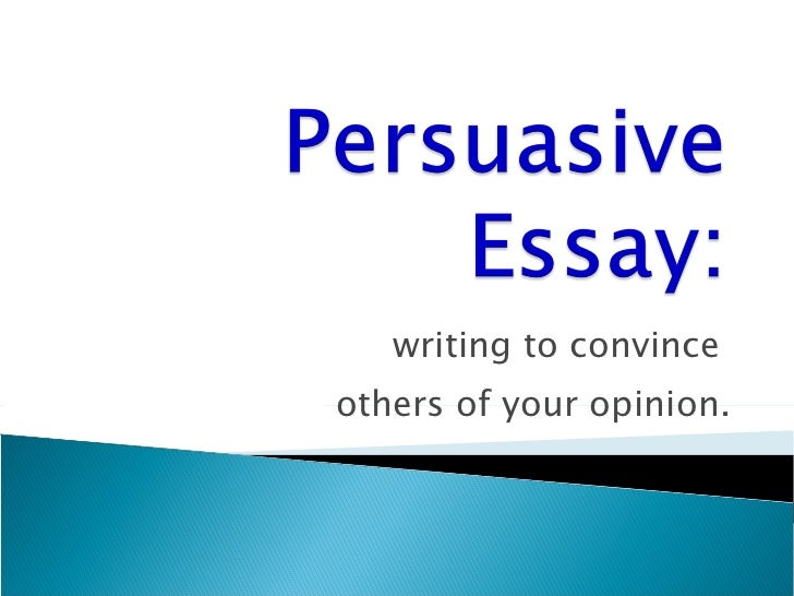 writing persuasive essays exercises