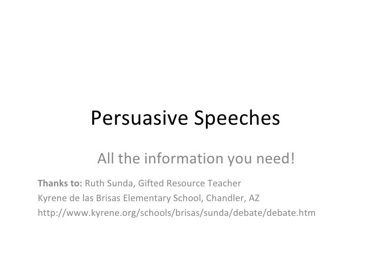 persuasive speech outline speech