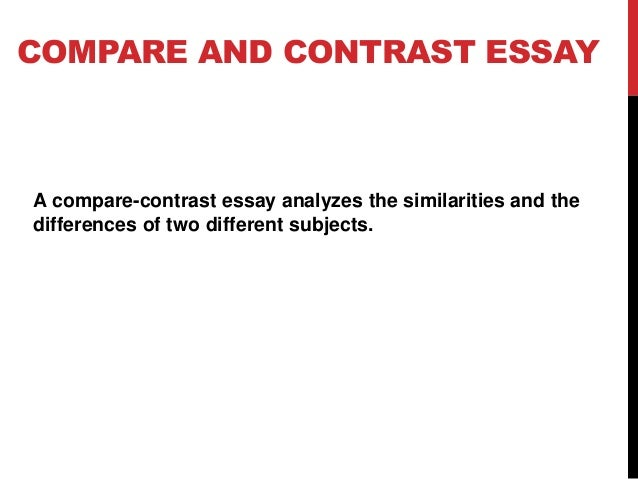 A comparison and contrast essay