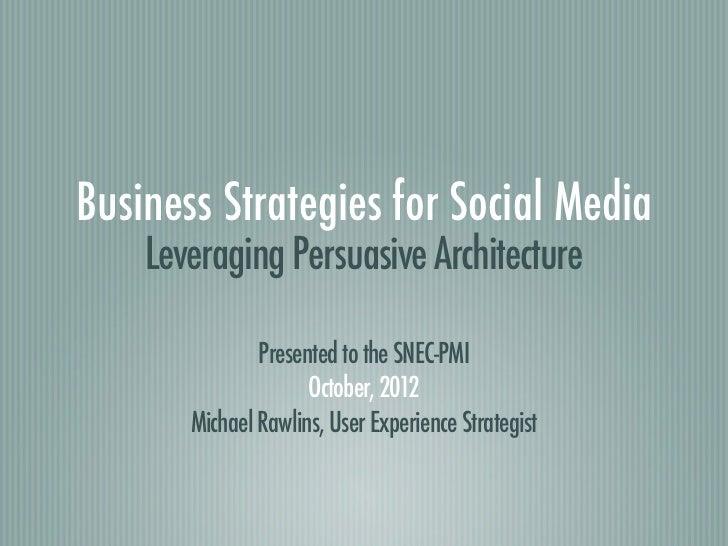 Leveraging Persuasive Architecture