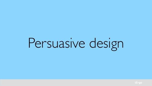 iErgo Persuasive design