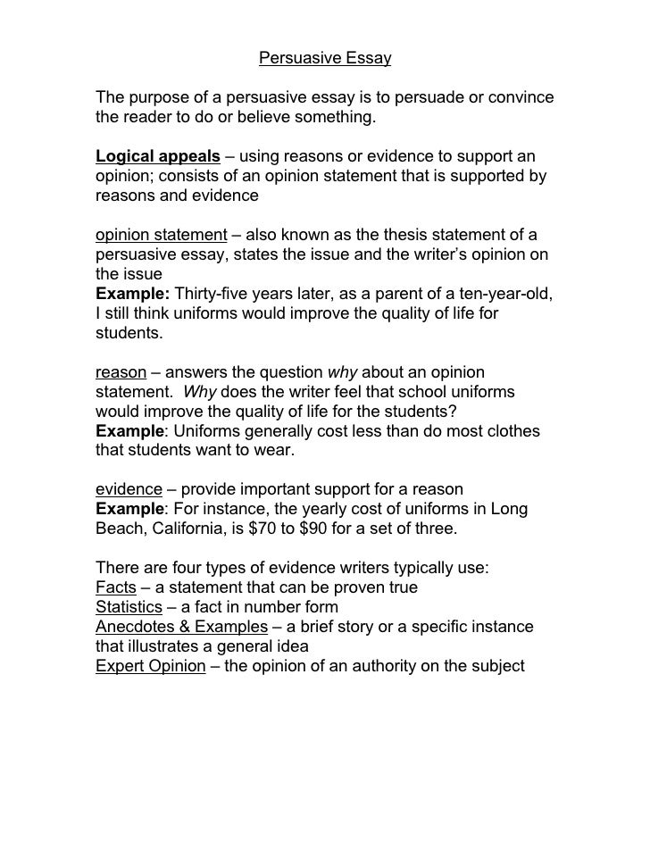 School Uniforms Persuasive Essay Example
