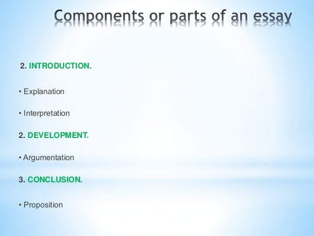 What are the components of an persuasive essay?