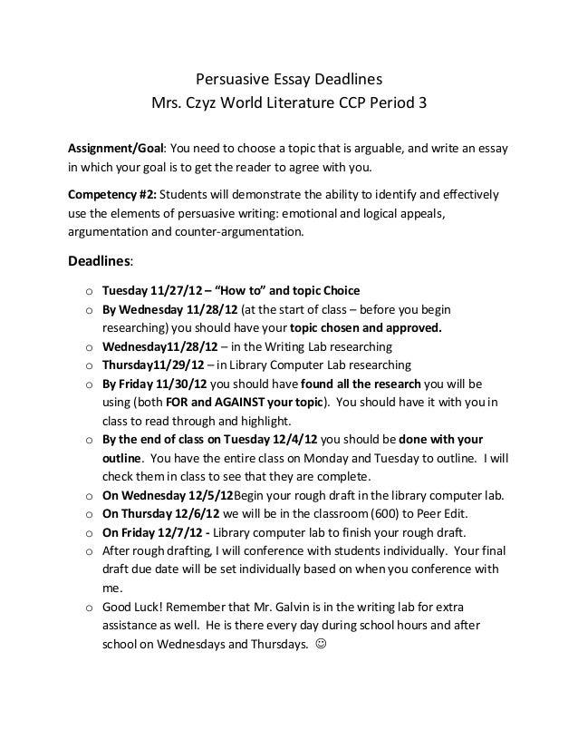 Persuasive Speech Essay Topics