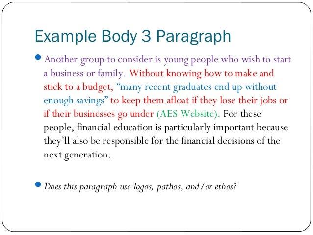 What is the format of writing a three-paragraph essay?