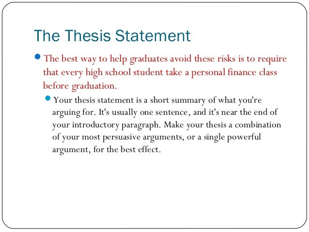 How to write a thesis for a persuasive essay