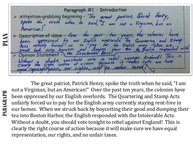 Revolutionary war essay