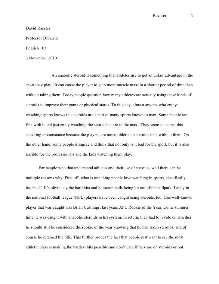 Should Steroids Be Legal Essay Template - image 3