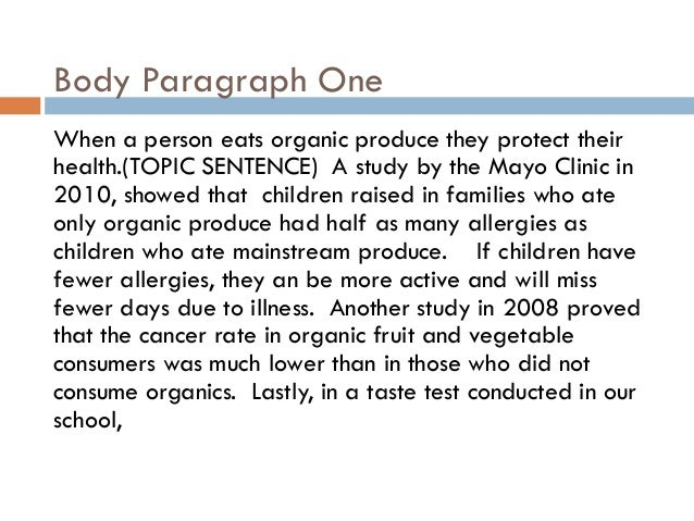 Essay on the importance of organic foods