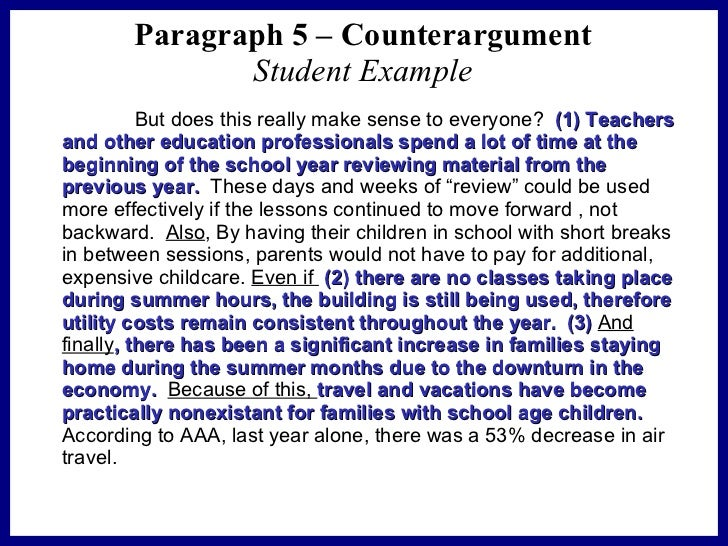counterargument essay A list of interesting counter argument essay topics at some point in your academic career, you will encounter an assignment where you must make a persuasive argument.