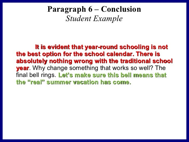 conclusion of essay example
