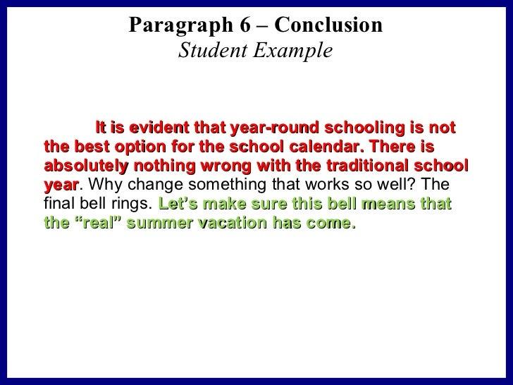 Persuasive essay conclusion format