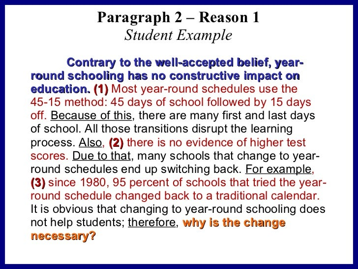 school should be year round essay A year round school system would do little more than frustrate us and our parents while costing the school board more a year round system would limit our vacataions, our ability to hold summer jobs, and would put us in coming back to school mind thought.