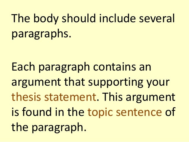 structure of a argumentative essay