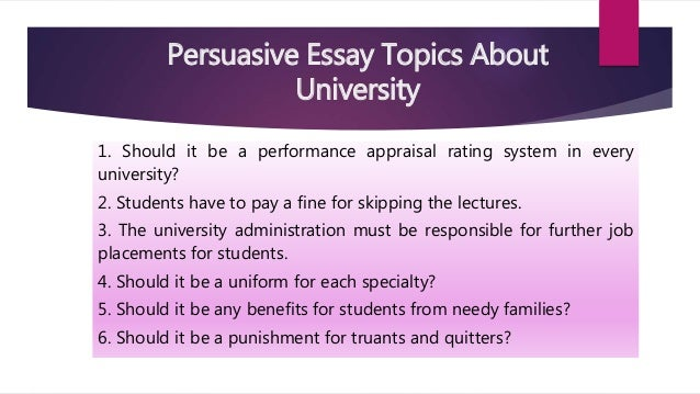topics in essay writing