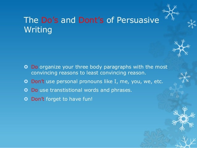 Sample Persuasive Essay Topics
