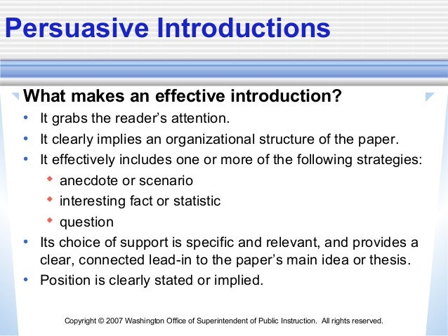 how to write an introduction persuasive essay Argumentative essay detailed writing guide including essay structure patterns, introduction and conclusion techniques, useful examples, tips and best practices.