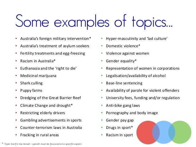 unique topics for persuasive speeches