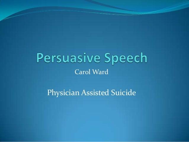 Persuasive speech writing