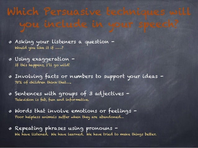 Persuasive speech techniques