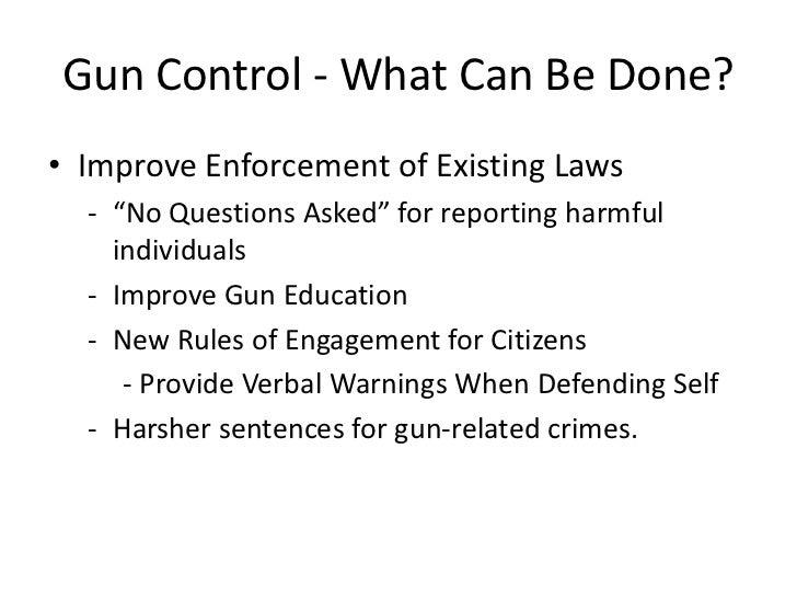 Persuasive speech the need for gun control