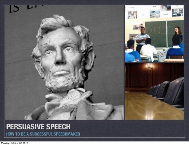 Persuasive speech details
