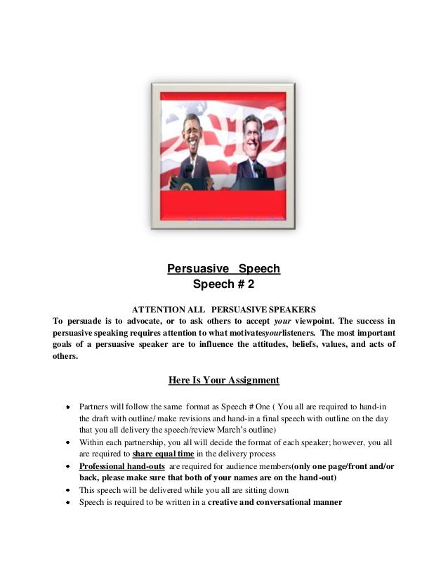 Persuasive Speech Examples For High School Students