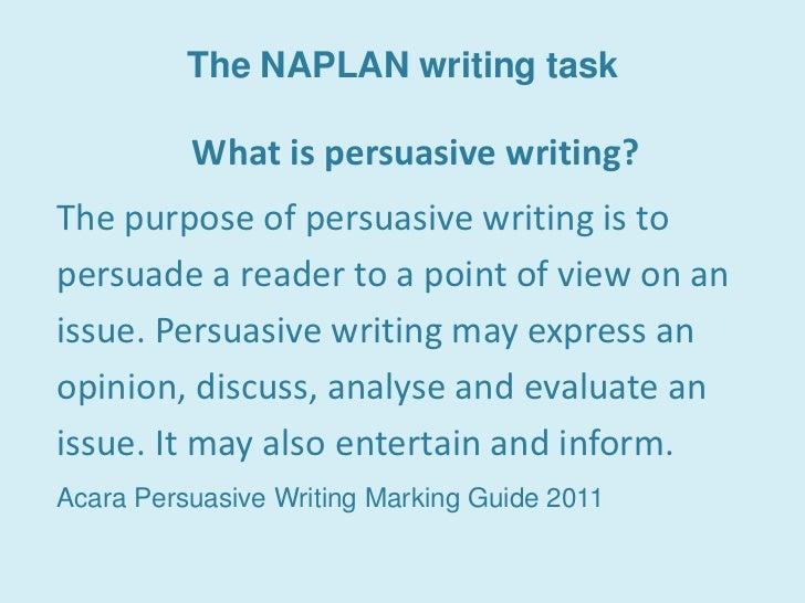 Persuasive writing task?