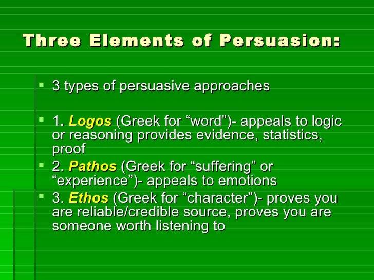Persuasive Essay Components