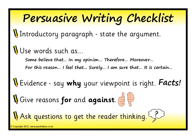 written persuasive essays