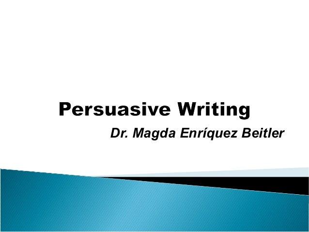 Scaffolding Persuasive Writing