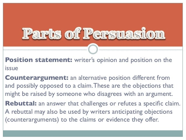 Argumentative position