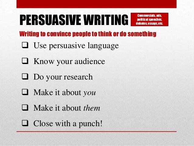 Pursuasive Writing?!!???? : D?