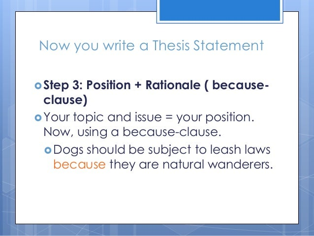 Powerpoint on writing a thesis statement