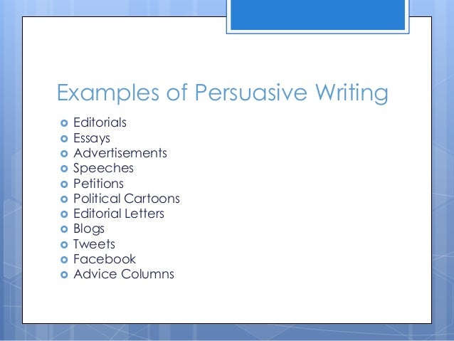 Advice on how to write persuasive essays?? :)?