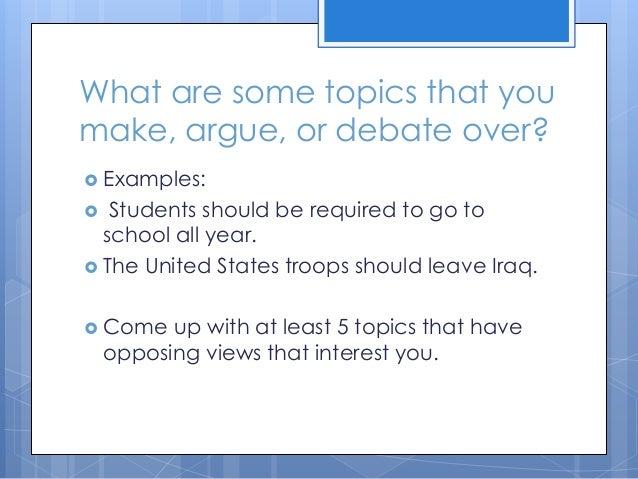 Persuasive essay debate topics