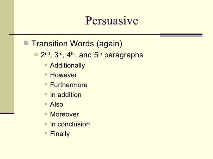 Argumentative essays transitions owrd