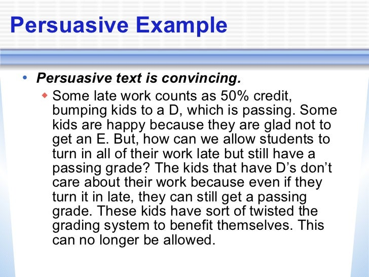 persuasive essay powerpoint for kids Use their writing to persuade others state an opinion and provide reasons to  support  write and revise two essays: one personal essay where students use.