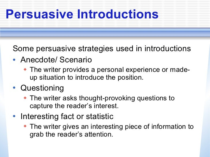 persuasive writing strategies Workshop 4 teaching persuasive writing overview workshop 4 features the classrooms of two teachers: sixth-grade language.