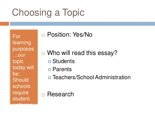 Persuasive Essay Resources   Chariho Regional School District