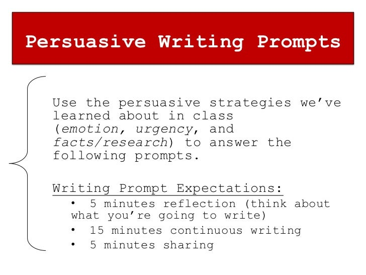 persuasive essay one