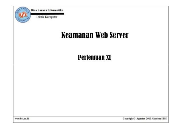 Pertemuan11 keamananwebserver