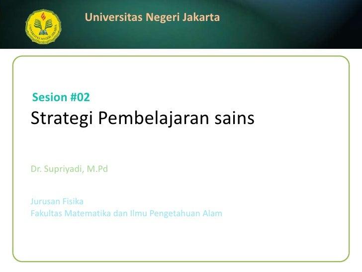 Strategi Pembelajaran Sains (2)