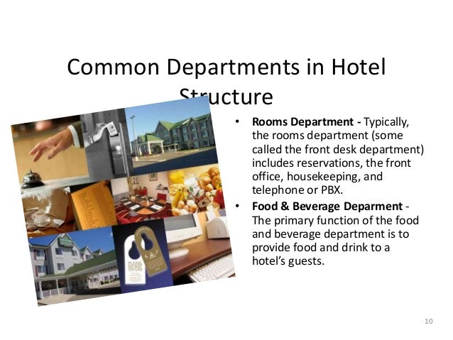 6 functional department of a hotel The main function of this department is: • to purchase materials from the market as per requirement of various department of hotel • to purchase all types of equipments and materials for hotel • to liaison with different companies or vendor for supply of perishable or non-perishable goods.