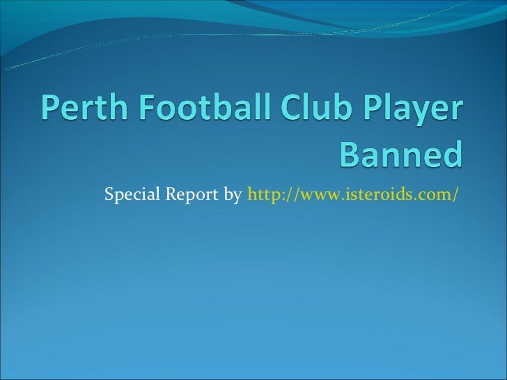 Perth Football Club Player Banned