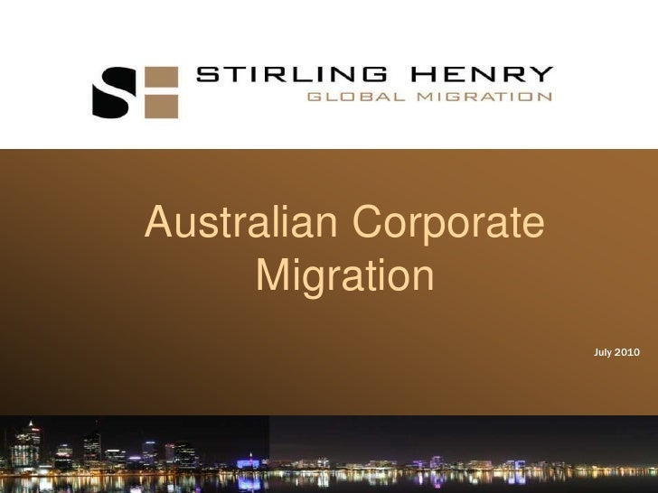 Perth Corporate Immigration Presentation July 2010