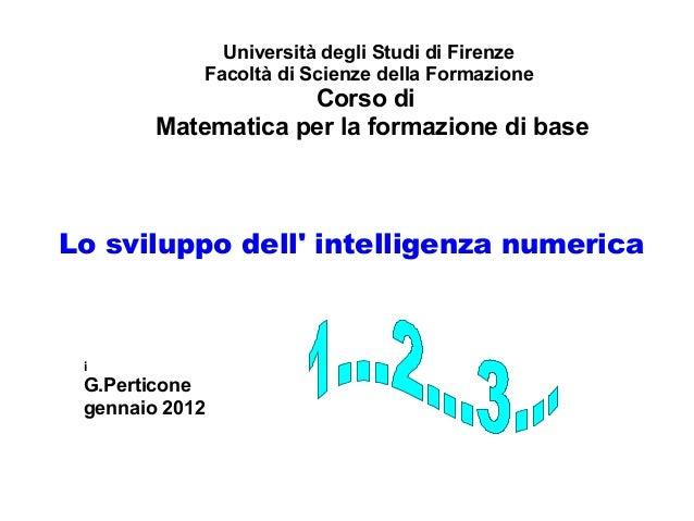 Perticone g  intelligenza numerica
