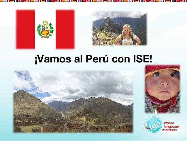 ¡Vamos al Perú con ISE!