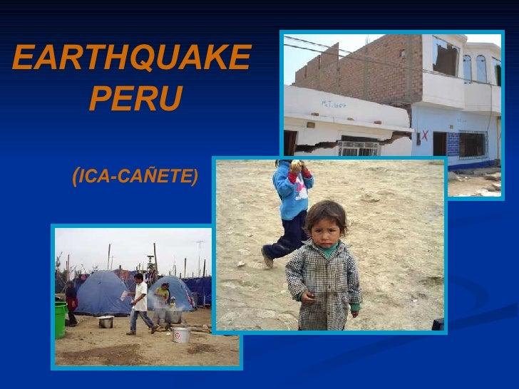 EARTHQUAKE   PERU ( ICA-CAÑETE)