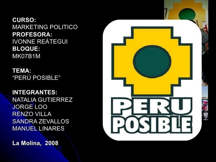 Peru Posible  Manuel Renzi Sandra Naty